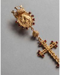 Dolce & Gabbana - Metallic Crown And Medal Earrings - Lyst