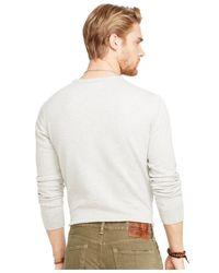 Denim & Supply Ralph Lauren Gray Cotton Winged-motor Sweatshirt for men