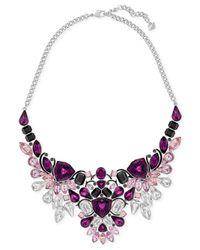 Swarovski | Multicolor Silver-tone Purple Crystal Drama Necklace | Lyst