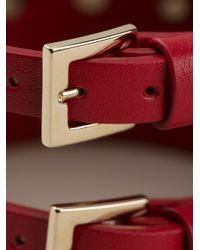 Valentino - Red Rockstud Cuff - Lyst
