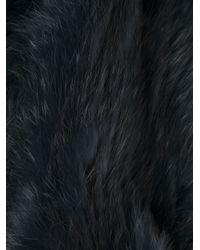 Meteo by Yves Salomon - Blue Rabbit Fur Scarf - Lyst