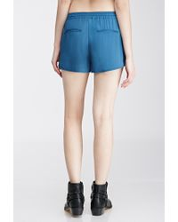 Forever 21 | Blue Drawstring Dolphin Shorts | Lyst