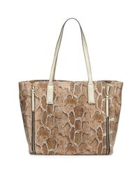 Neiman Marcus - Multicolor West End Snake-embossed Faux-leather Tote Bag - Lyst