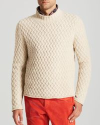 Eidos - Natural Medici Window Grate Pattern Sweater for Men - Lyst