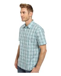 Perry Ellis | Blue Short Sleeve Multicolor Check Shirt for Men | Lyst