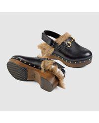 Gucci Black Amstel Leather Clog