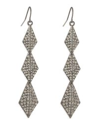 Lisa Freede - Gray Stella Crystal Drop Earrings - Lyst