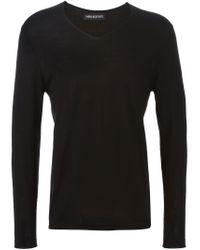 Neil Barrett - Black Lightweight Sweater for Men - Lyst