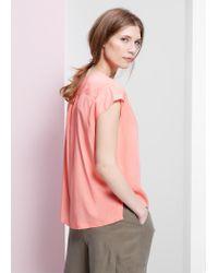 Violeta by Mango Pink Cap Sleeve Blouse