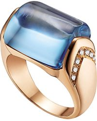 BVLGARI | Mvsa 18Ct Pink-Gold And Diamond Ring - For Women | Lyst