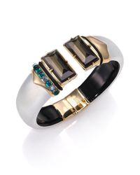 Alexis Bittar | Metallic Sport Deco Embellished Lucite Cuff Bracelet | Lyst