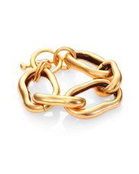 Oscar de la Renta Metallic Link Bracelet