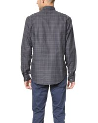 Theory Gray Zack Daulton Shirt for men