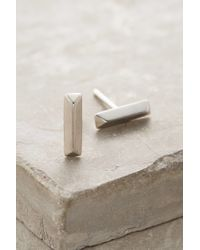 Elizabeth and James | White Mies Studs | Lyst