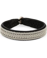 Maria Rudman | Metallic Pewter Three Row Woven Bracelet | Lyst