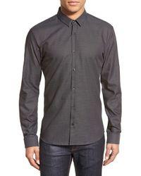HUGO - Gray Boss 'ero' Slim Fit Sport Shirt for Men - Lyst