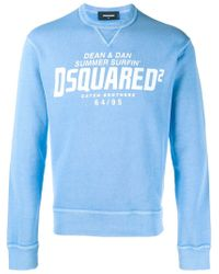 DSquared² Blue Logo Sweatshirt for men