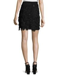 Christopher Kane - Black Heart-lace Mini Skirt - Lyst