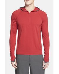 Ibex | Red 'indie' Half Zip Hoodie for Men | Lyst