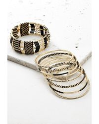 Forever 21 Metallic Threaded Bead Bangle Set