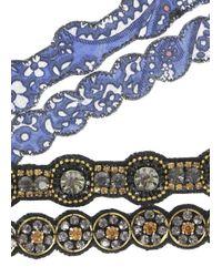 Deepa Gurnani | Black Crystal Embellished Headband | Lyst