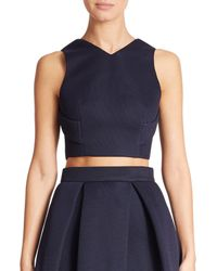 Nicholas | Blue Mesh Open-back Cropped Top | Lyst