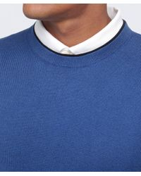 Paul Smith | Blue Crew Neck Jumper for Men | Lyst