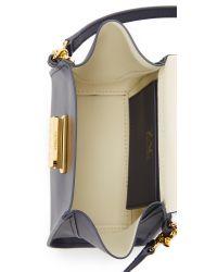 Zac Zac Posen Blue Eartha Top Handle Mini Cross Body Bag