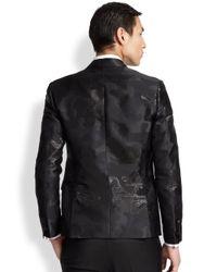DSquared² Black Astrakan Velvet Tux Jacket