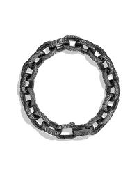 David Yurman | Black Iron Wood Large Link Bracelet for Men | Lyst