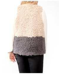 Forever 21 - Brown Plus Size Colorblocked Shag Vest - Lyst