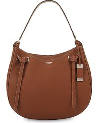 Michael Kors | Brown Rogers Large Leather Shoulder Bag | Lyst