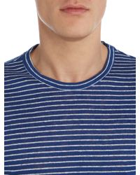 Michael Kors - Green Stripe Crew Neck Regular Fit T-shirt for Men - Lyst
