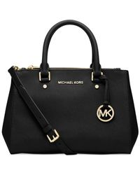 Michael Kors | Black Michael Sutton Small Satchel | Lyst