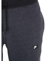 Nike Gray Cotton Blend Jogging Pants for men