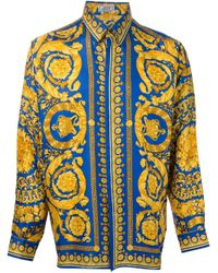 Versace Yellow Baroque Print Shirt