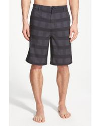 Rip Curl | Black 'Mirage Declassified' Plaid Hybrid Shorts for Men | Lyst
