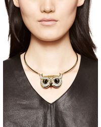 kate spade new york | Metallic Into The Woods Owl Collar | Lyst