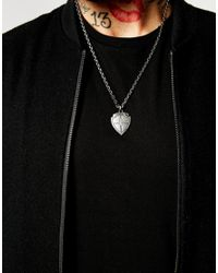 Simon Carter - Metallic Antiqued Shield Necklace Exclusive To Asos for Men - Lyst