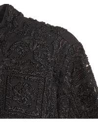 H&M Black Embroidered Dress