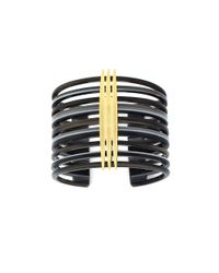Vince Camuto | Black Gold-plated Cuff Bracelet | Lyst