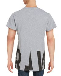 G-Star RAW   Gray Graphic Tee for Men   Lyst