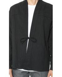 Naked & Famous Black Kimono Shirt for men