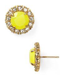 kate spade new york | Metallic Secret Garden Stud Earrings | Lyst
