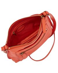 Fossil - Orange Vickery Cross Body Leather Bag - Lyst