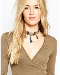 ASOS | Multicolor Coin Beaded Statement Choker Necklace | Lyst