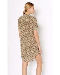 Equipment | Green Short Sleeve Slim Signature Silk Dress | Lyst