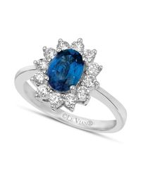 Le Vian | Blue Sapphire (1-1/4 Ct. T.w.) And Diamond (5/8 Ct. T.w.) Ring In 18k White Gold | Lyst