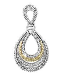 Lagos - Metallic Soiree Caviar™ & Diamond Pendant - Lyst