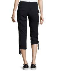 Anatomie - Black Low-Rise Cargo Capri Pants - Lyst